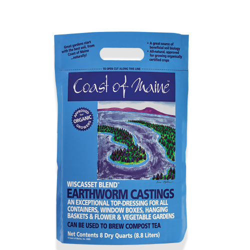 Wiscasset Blend, organic earth worm castings
